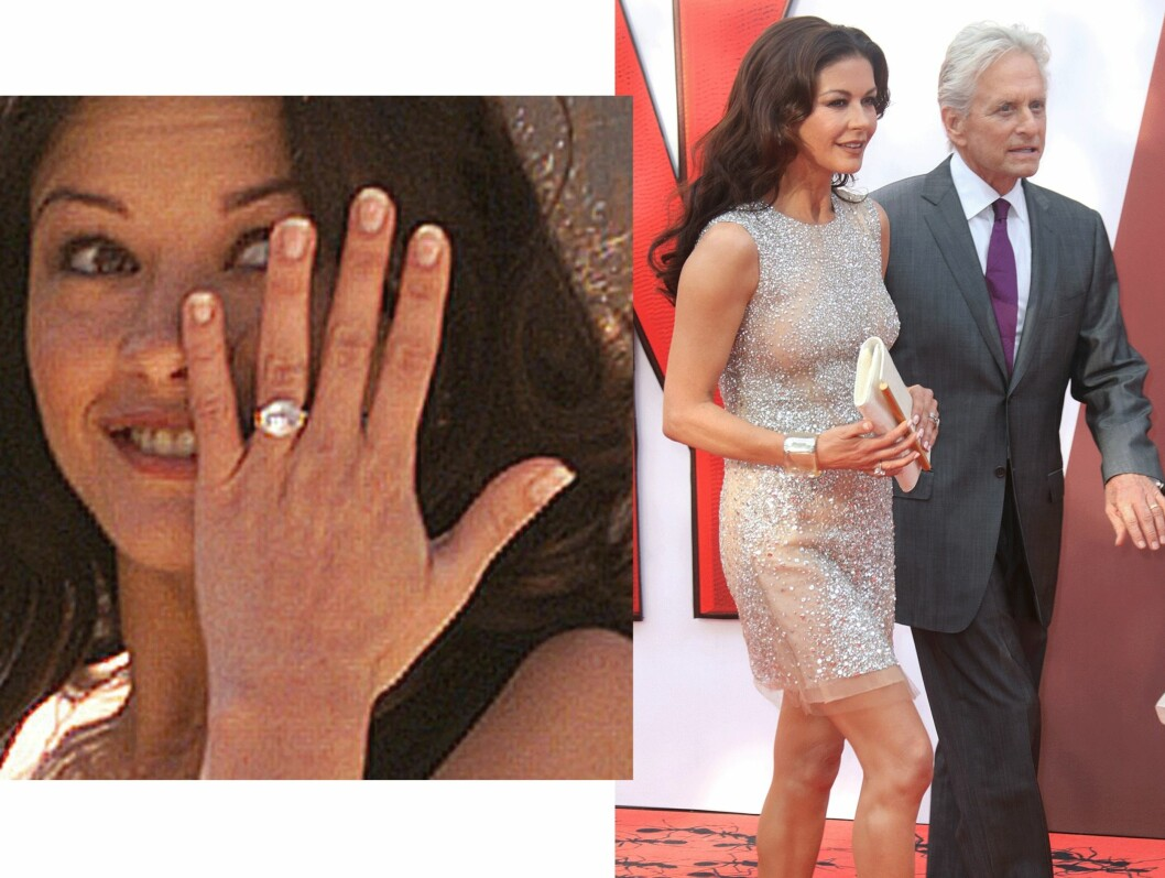 Catherine Zeta-Jones (45) og Michael Douglas (70). Foto: Scanpix
