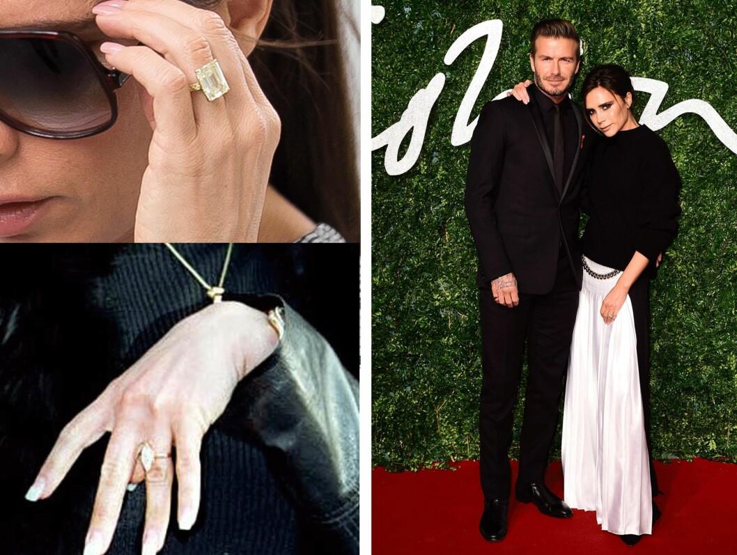 David Beckham (40) og Victoria Beckham (41). Foto: Scanpix