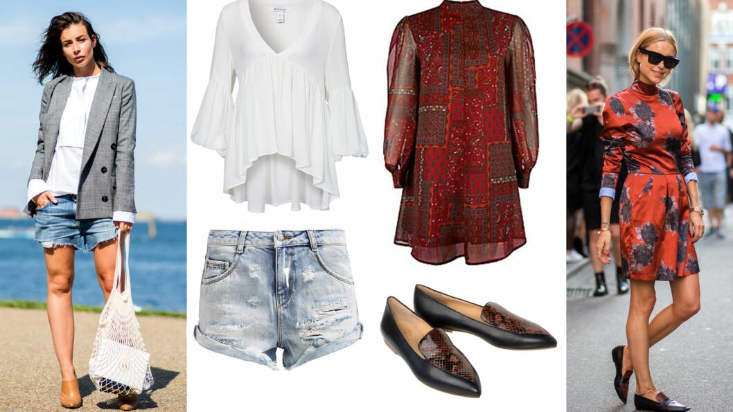 STJEL GATEMOTESTILEN FRA KØBENHAVN: La deg inspirere av disse moteikonene til hvordan du kan kle deg i augustværet.  Foto: Scanpix og Produsentene