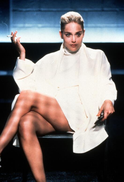 "SUPERSTJERNE: Sharon Stone ble superstjerne gjennom rollen i filmsuksessen ""Basic Instinct"" i 1995.  Foto: Scanpix"