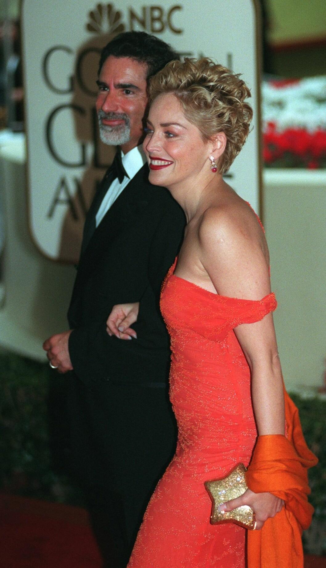 1999: Phil Bronstein og Sharon Stone Foto: AP