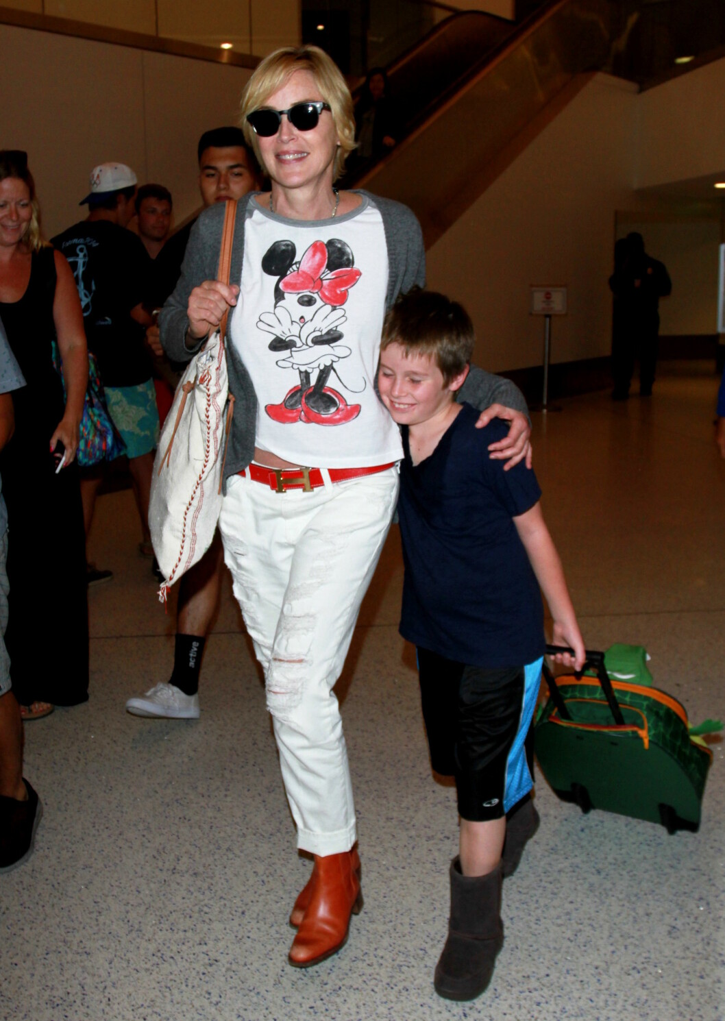 Med sønnen Quinn i juli.  Foto: Splash News