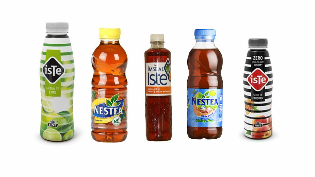 ISTE: Mange av isteene man får kjøpt på butikken inneholder svært mye sukker.  Foto: Produsentene