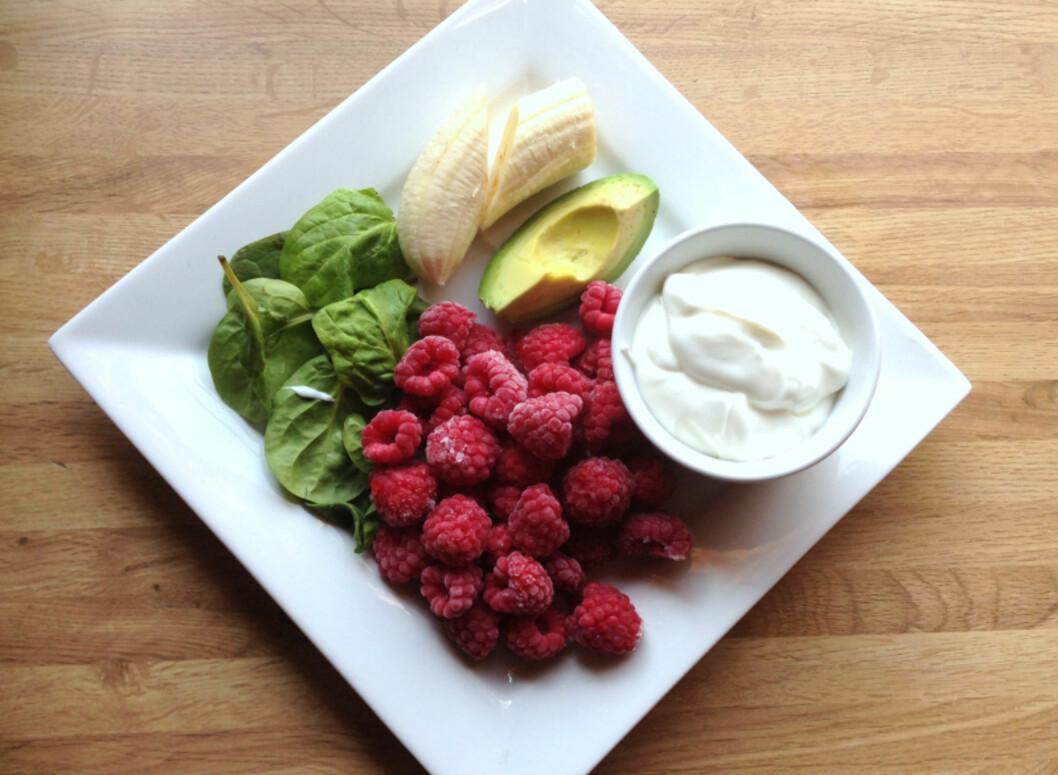 <strong>NÆRING:</strong> Avokado og spinat gir deg masse energi og næring å gå på, helt frem til lunsj. Foto: Linda Marie Stuhaug