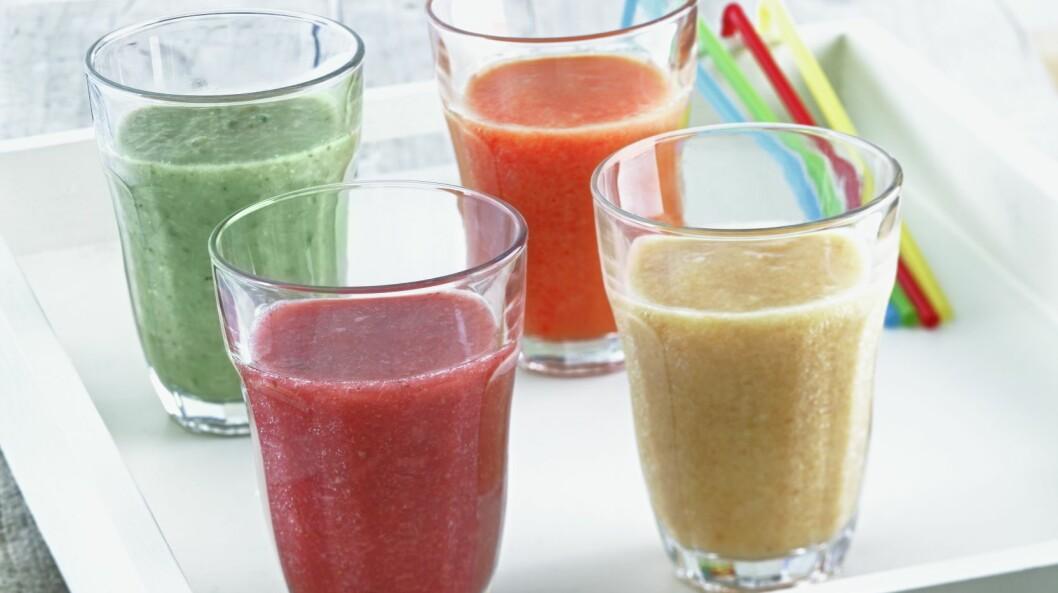 <strong>FLYTENDE FROKOST:</strong> En smoothie kan være en ypperlig frokost, i hvert fall dersom den er mettende og næringsrik. Foto: Scanpix/NTB