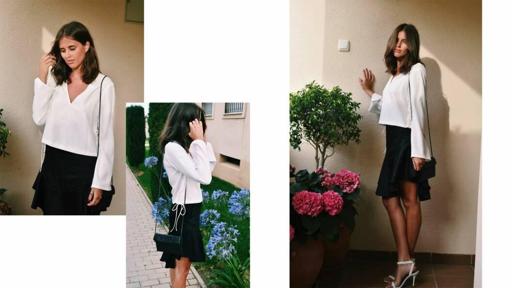 KVELDSTILEN: Darja Barannik går for en minimalistisk look i Marbella.  Foto: Darja Barannik