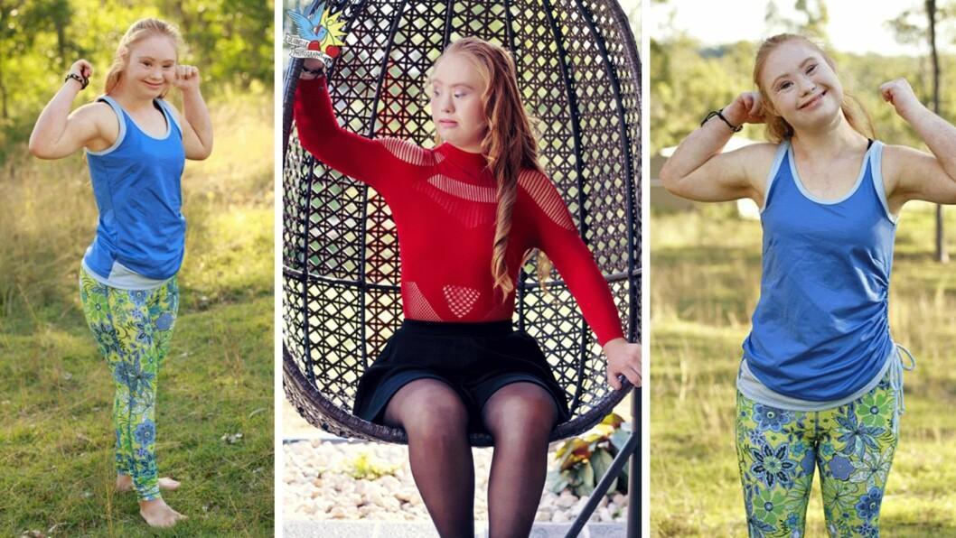 MADELINE STUART: 18-åringen har Downs syndrom og vil gjennom modellyrket forandre samfunnets syn på hva skjønnhet er. Foto: Manifesta, Lulubelle Photography