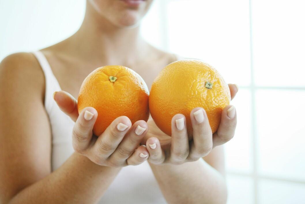 <strong>VITAMIN C:</strong> Uansett hvor mange appelsiner du spiser vil det ikke kunne kurere en forkjølelse. Du kan kun ta tiden til hjelp. Foto: Scanpix/NTB