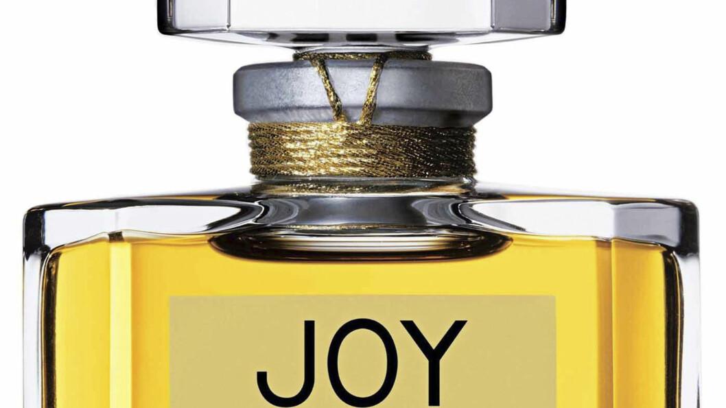 SYMBOL: Joy (Jean Patou, Eau de Parfum 50 ml, kr 940).  Foto: Produsenten