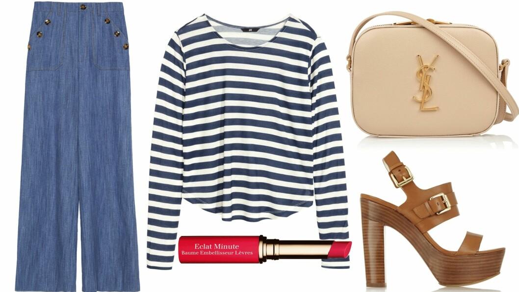 FÅ STILTISPENE: Slik styler du den klassiske, stripete genseren i tre trendy vårantrekk!  Foto: Produsentene, Net-a-porter.com