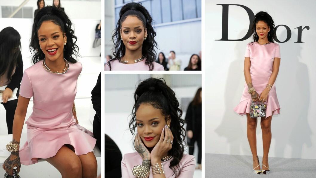 RIHANNA: Superstjernen skal fronte Diors nye kampanje. Foto: Scanpix