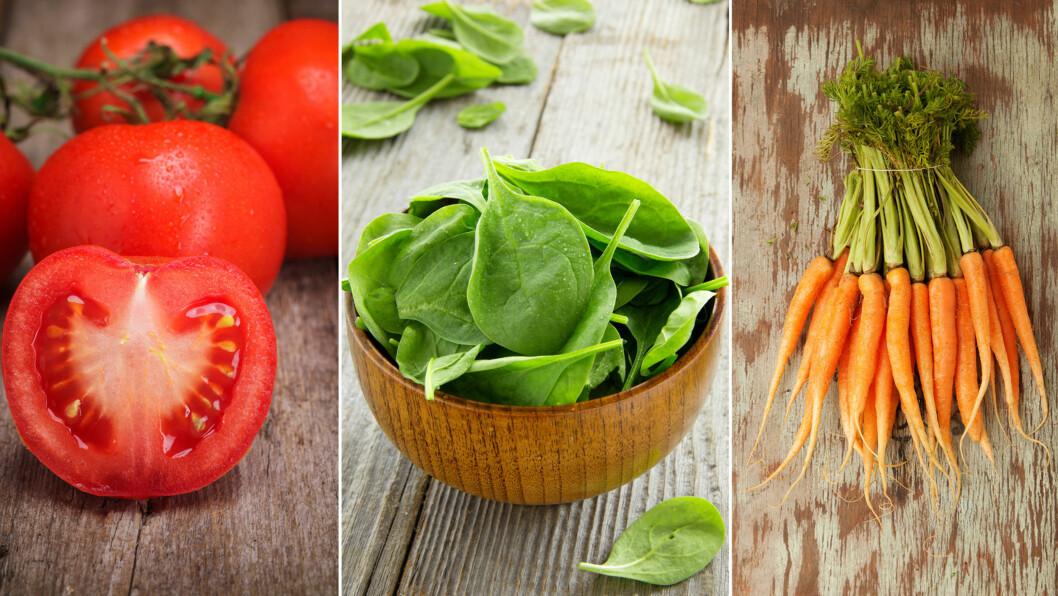 GRØNNSAKER: Sliter du med å få i deg nok grønnsaker? Da bør du sjekke ut tipsene i denne saken!  Foto: NTB Scanpix