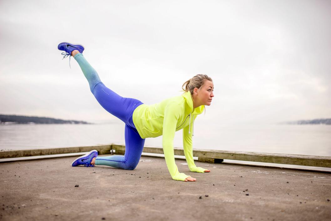 SPARK PÅ: Can you kick it? Spark benet godt bak nå! Foto: Lars Erik Bakken / All Over Press