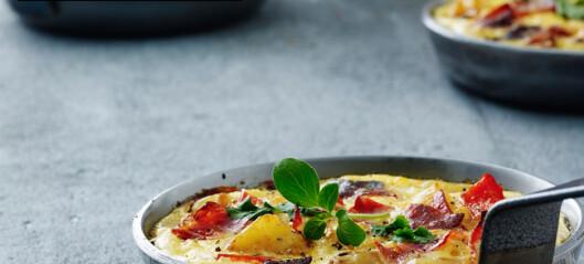 Tortilla med chorizo og paprika