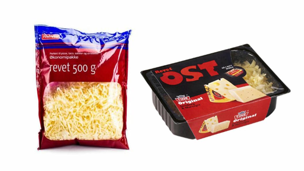 OST OG ANALOG OST: Det viser seg at det ikke er så mye annet enn smak som skiller den ekte og den analoge osten.  Foto: Produsentene