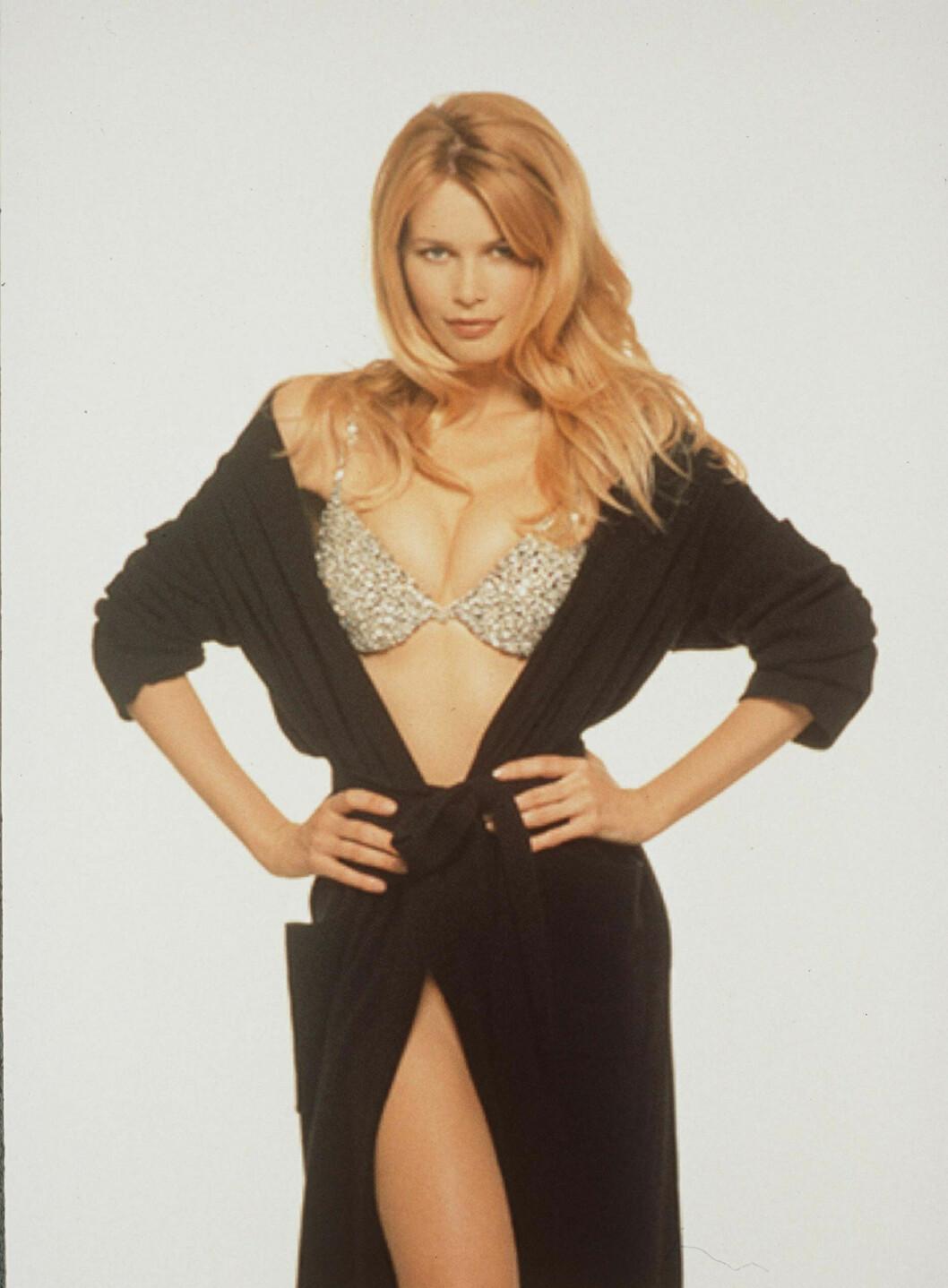 OPPDAGET I 1987: Claudia ble oppdaget på en nattklubb i 1987.  Foto: Splash/ All Over Press