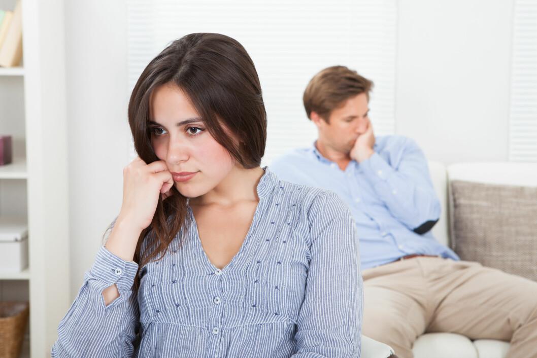 KRANGLER MYE: Krangler du og partneren din mye? Da kan det å ta en pause fra hverandre kanskje gjøre at dere finner tilbake til det gode forholdet dere hadde.  Foto: apops - Fotolia