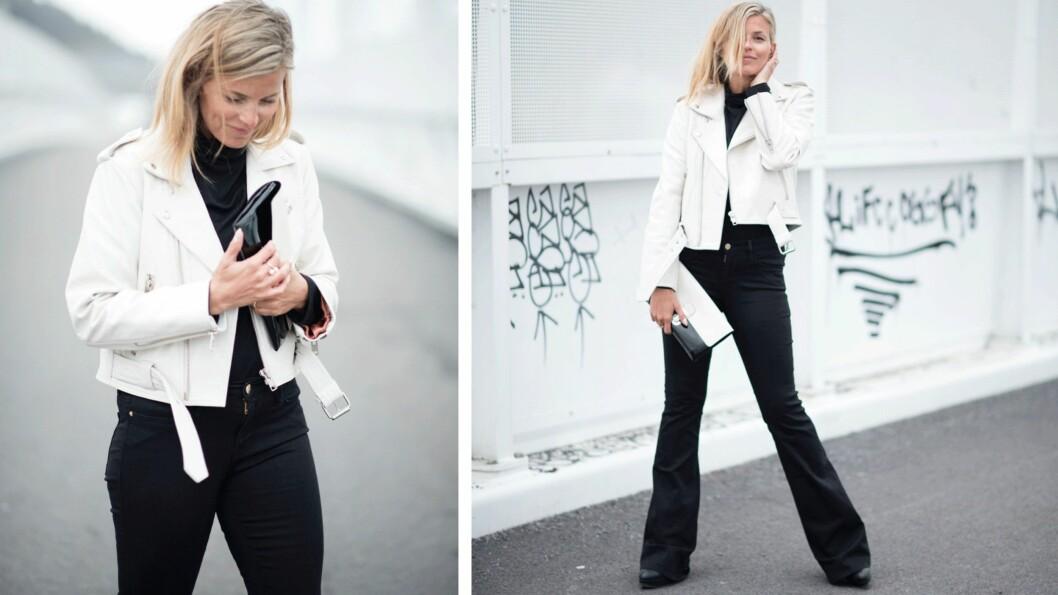 DAGENS BLOGGSTIL: La deg inspirere av STYLEmag-blogger Janka Pollianis svart-hvite vårantrekk! Foto: Polliani.com
