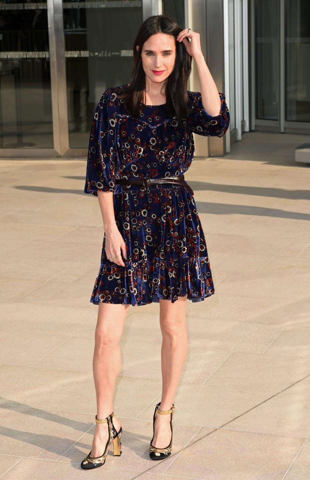Skuespiller Jennifer Connelly i kjole fra Louis Vuitton. Foto: David Fisher/REX/All Over Press