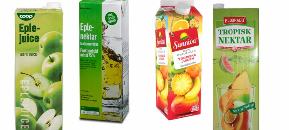 Juice er sunnere enn nektar