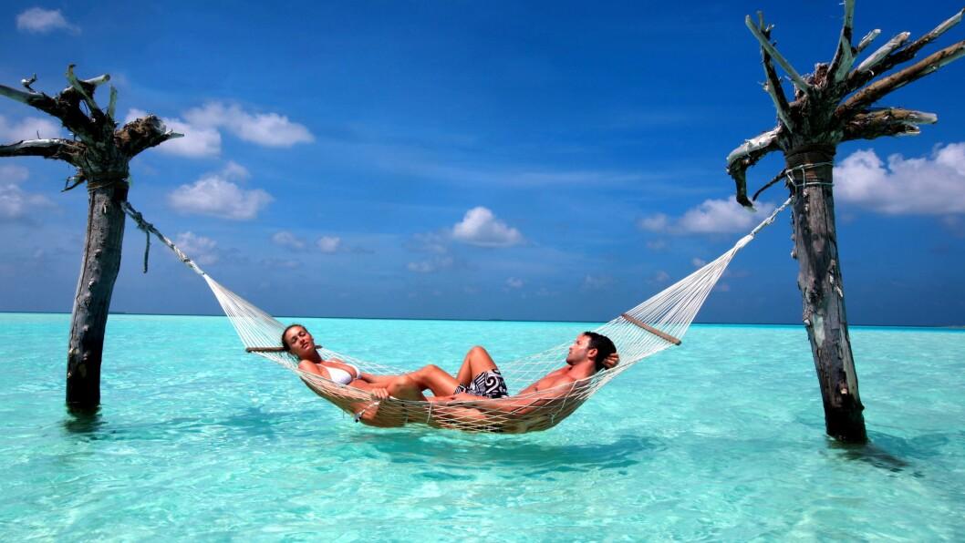 KJÆRESTEFERIE: Maldivene er selve drømmereisemålet for mange som vil dra på en superromantisk kjæresteferie. Foto: All Over Press