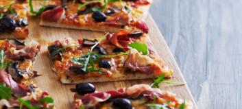 Lynpizza med sopp