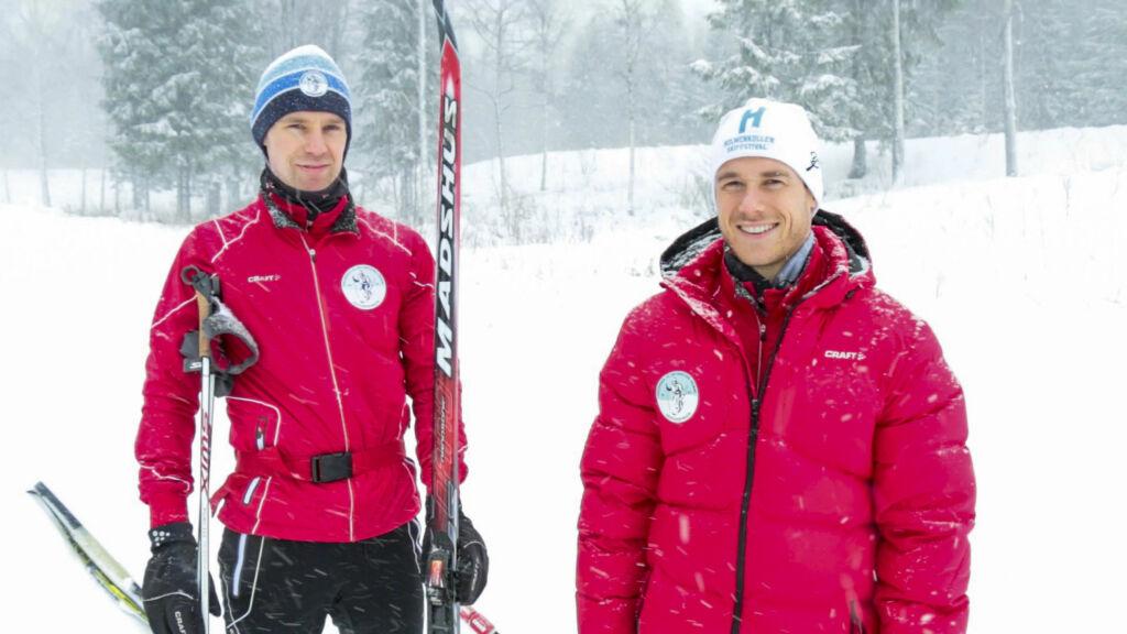 EKSPERTENE VISER: Lars Amund Toftegaard  og Anders Øen – kursansvarlige i Skiforeningen, skal lære deg enkel skiteknikk i KKs webtv-serie.  Foto: Per Ervland