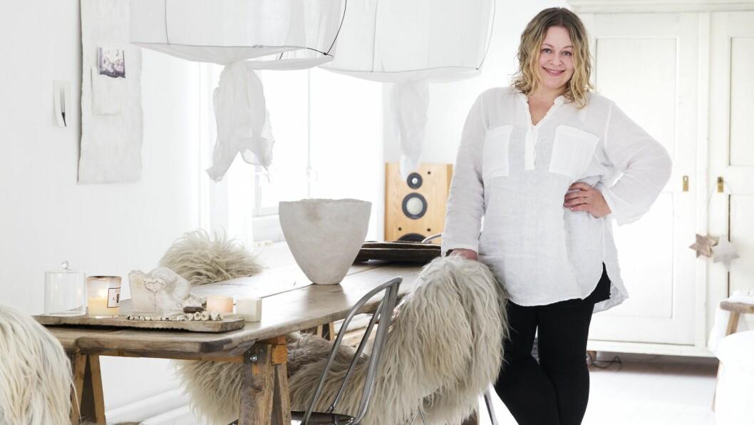 INTERIØRAKTIVIST: Line Kay tiltales av alt vakkert.  Foto: Yvonne Wilhelmsen