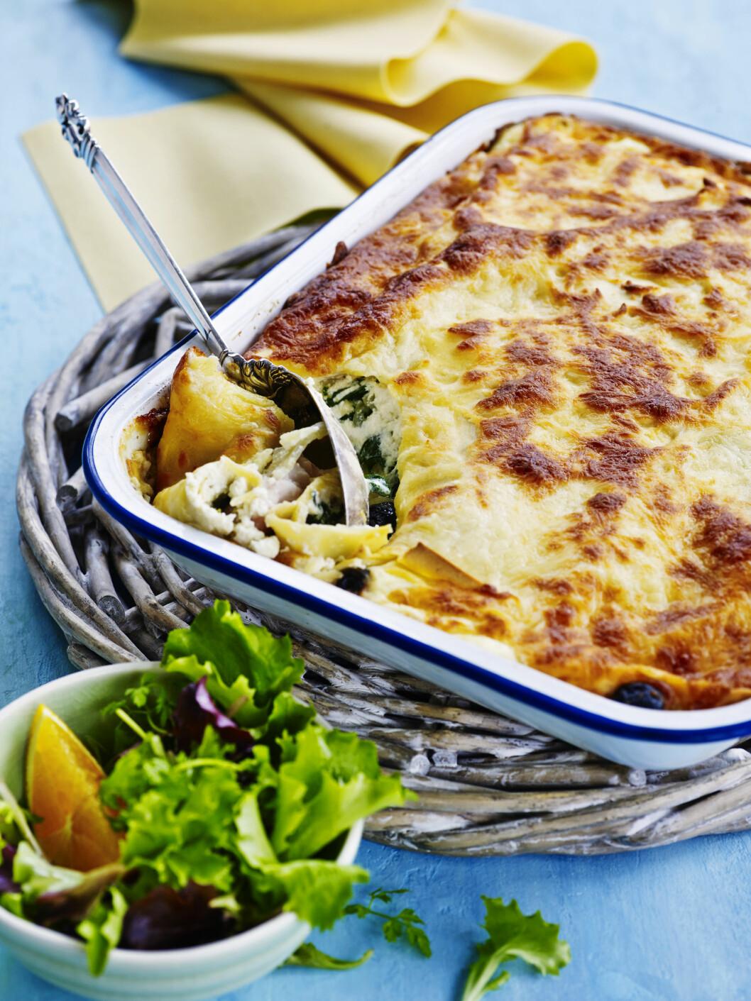 <strong>ENDELIG FREDAG:</strong> Piff opp lasagnen med fisk og nye smaker. Appelsin, fenikkel og spinat er supergodt! Foto: All Over Press