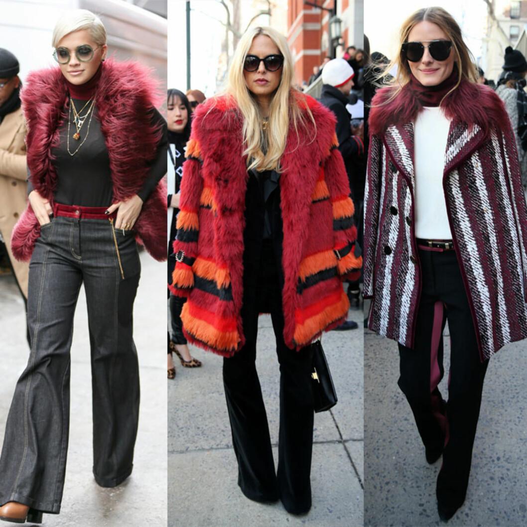 GJESTER: Rita Ora, Rachel Zoe og Olivia Palermo var blant gjestene på visningen til Hilfiger. Foto: All Over