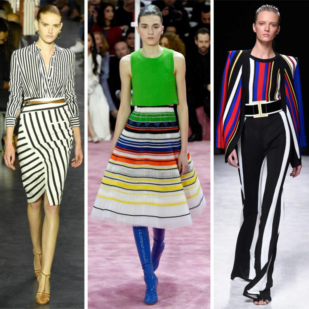 SPRING/SUMMER: Altuzarra, Christian Dior og Balmain med stripete antrekk. Foto: All Over