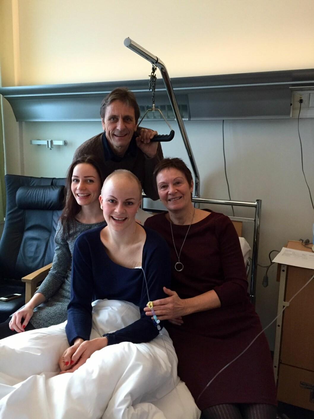 ENDELIG: Ane hadde sin siste kur i romjulen. Moren, faren og søsteren var selvsagt til stede.