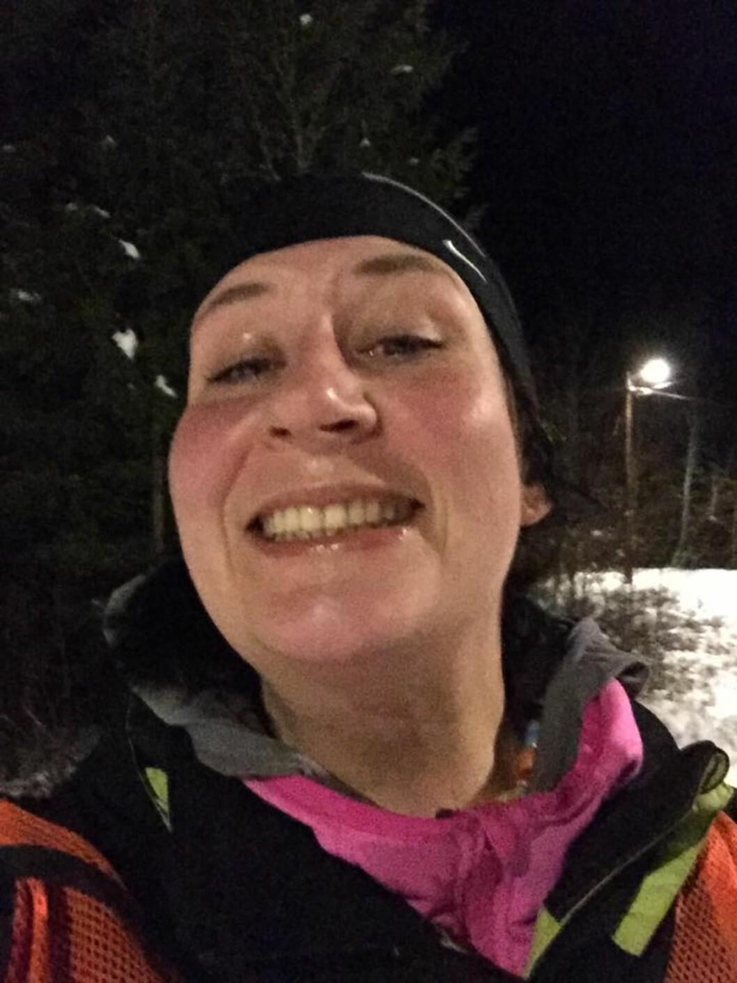 ØVER TIL SKIMILA: Skiselfie er nødvendig når man øver til KK SKimila! Foto: Privat