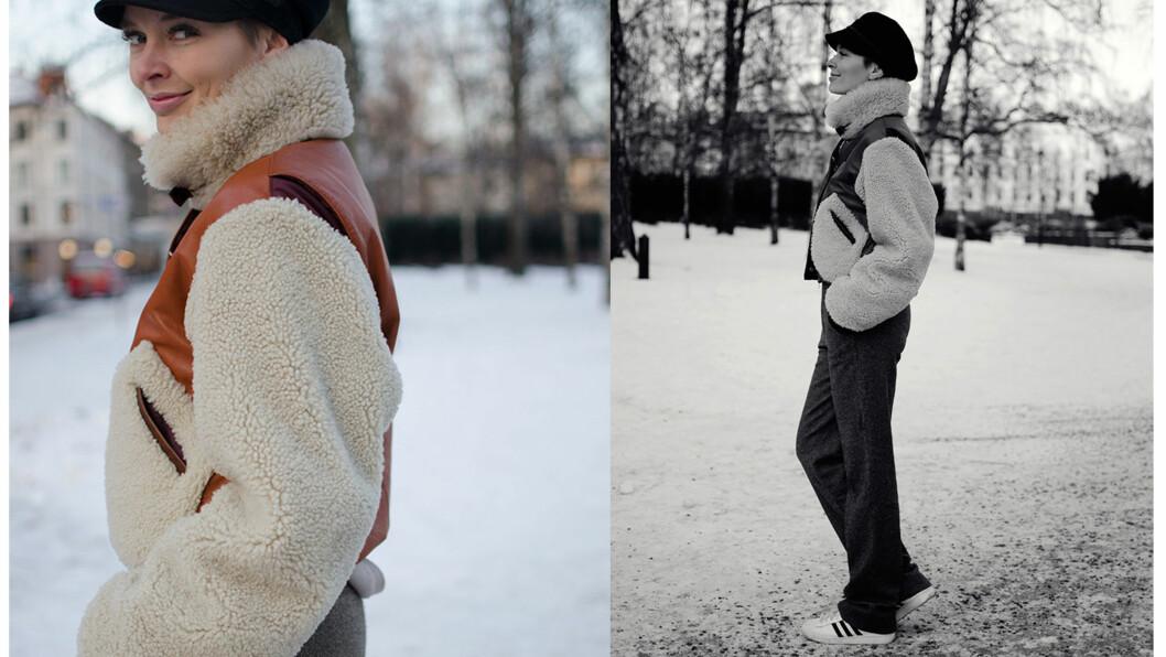 DAGENS BLOGGSTIL: Moteblogger Marie Murstad går for en retro vinterstil.  Foto: Outandaboutmarie.com