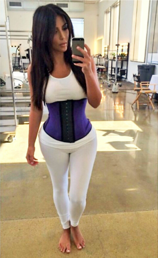 SUPERKJENDISEN: Kim Kardashian i klassisk healthie. Foto: All Over Press