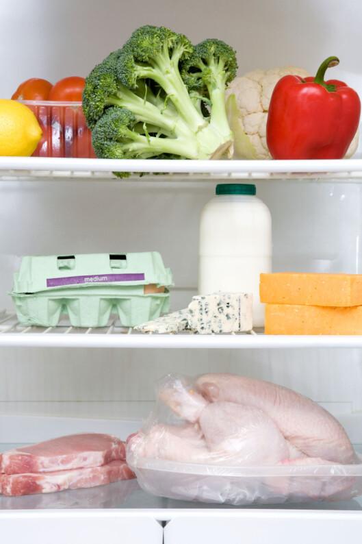 <strong>OPPBEVAR DEM KALDT:</strong> La eggene få plass så langt ned i kjøleskapet som mulig.  Foto: All Over Press