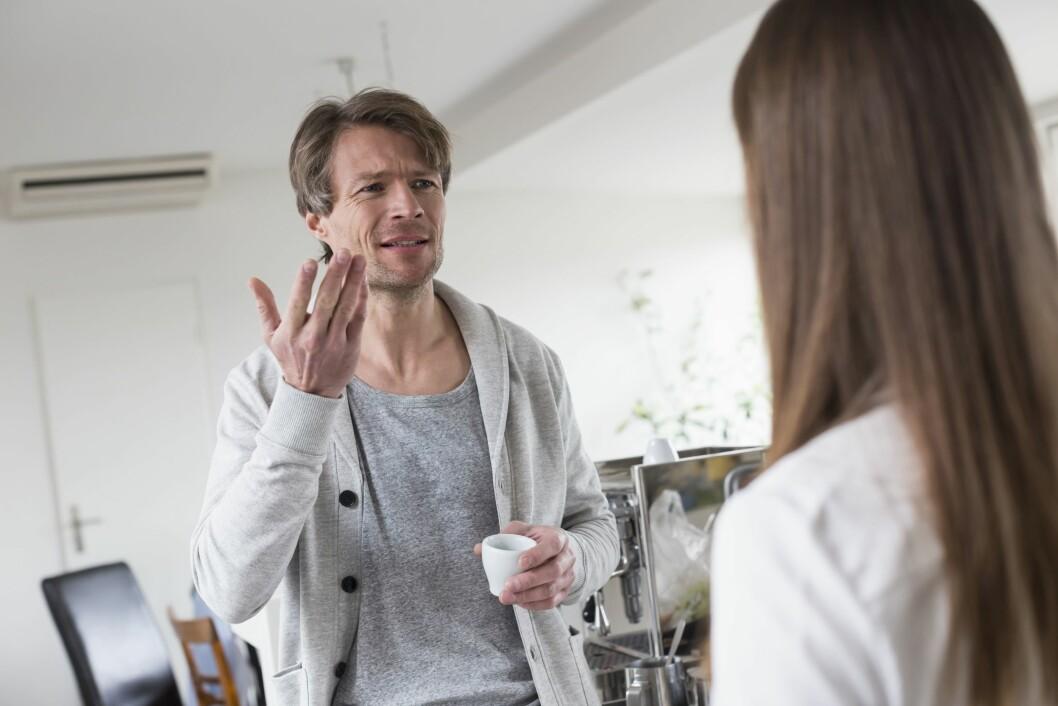 <strong>OVERKJØRER:</strong> Det er ikke lett å komme til ordet når partneren kjefter deg i senk med logikk og rasjonelle argumenter. Foto: Mito Images/REX/All Over Press