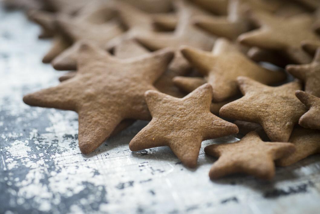 <strong>PEPPERKAKER:</strong> Deilige gluten- og laktosefrie pepperkaker.  Foto: Katrine Lunke / Melange