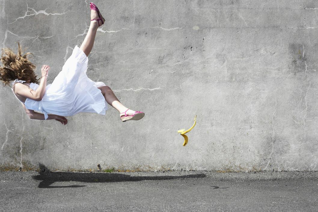 OISANN: Det er mange måter man kan skade halebeinet på, og å falle er et av de vanligste. Foto: (c) Liam Norris/cultura/Corbis/All Over Press