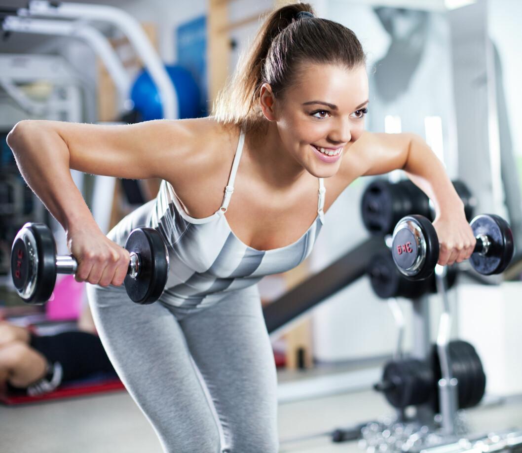 STYRKETRENING:  Visste du at økt muskelmasse gir også økt forbrenning? det stemmer, og derfor kan det være lurt å slenge inn en styrkeøkt en gang i blant.  Foto: milanmarkovic78 - Fotolia