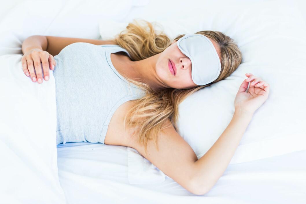 Model Released - Woman wearing eye shades/sleep mask. Foto: REX/VOISIN/PHANIE/All Over Press