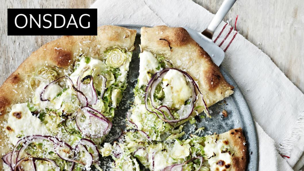 ROSENKÅL: Ja visst, rosenkål funker også på pizza!  Foto: All Over Press