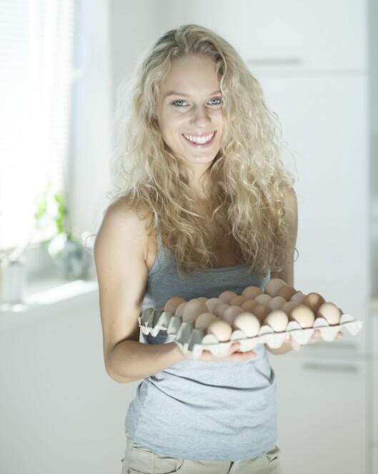 SUNT: Egg er en god kilde til mange viktige næringsstoffer, og perfekt til frokost. Foto: REX/Mood Board/All Over Press