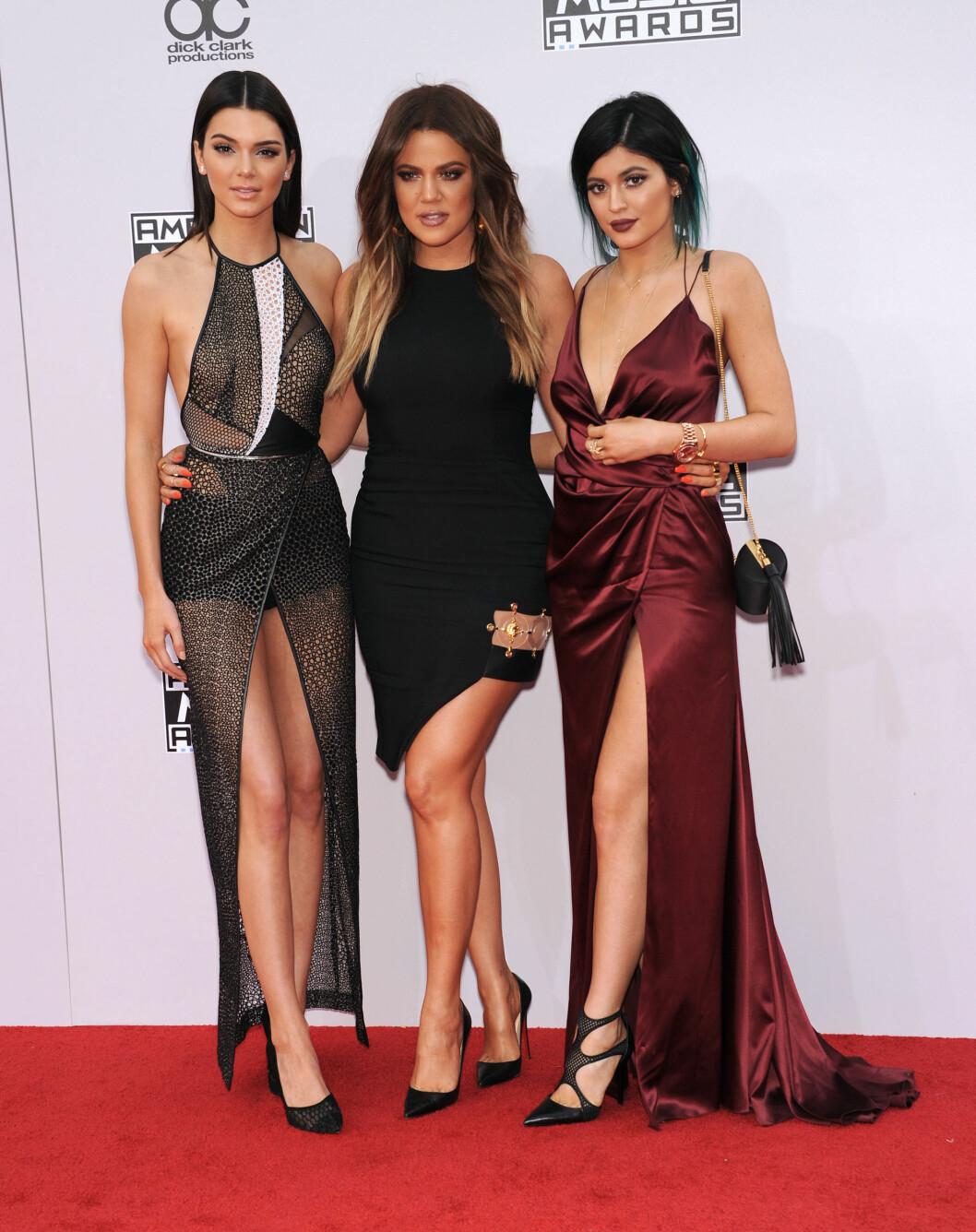Kendall Jenner, Khloe Kardashian og Kylie Jenner  Foto: Digital Focus / Splash News/ All Over Press