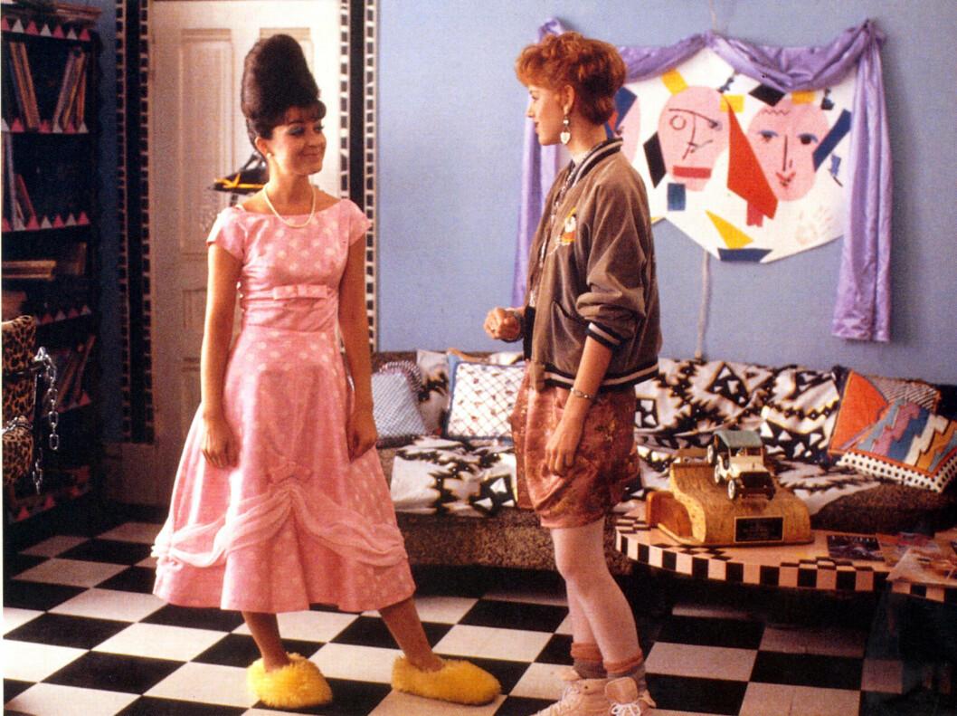HADDE SIN EGEN STIL: Molly Ringwald var noe av det kuleste på skjermen på 80-tallet - her i Pretty In Pink fra 1986. Foto: REX/Moviestore Collection/All Ov