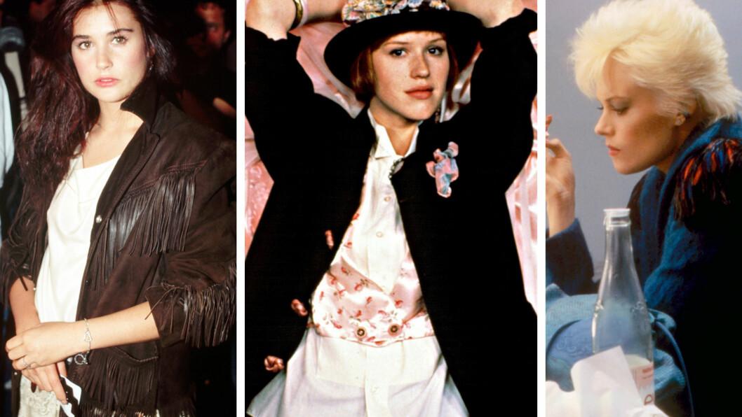 DEMI MOORE, MOLLY RINGWALD OG MELANIE GRIFFITH: Var blant de soleklart hotteste damene på 80-tallet.  Foto: All Over Press