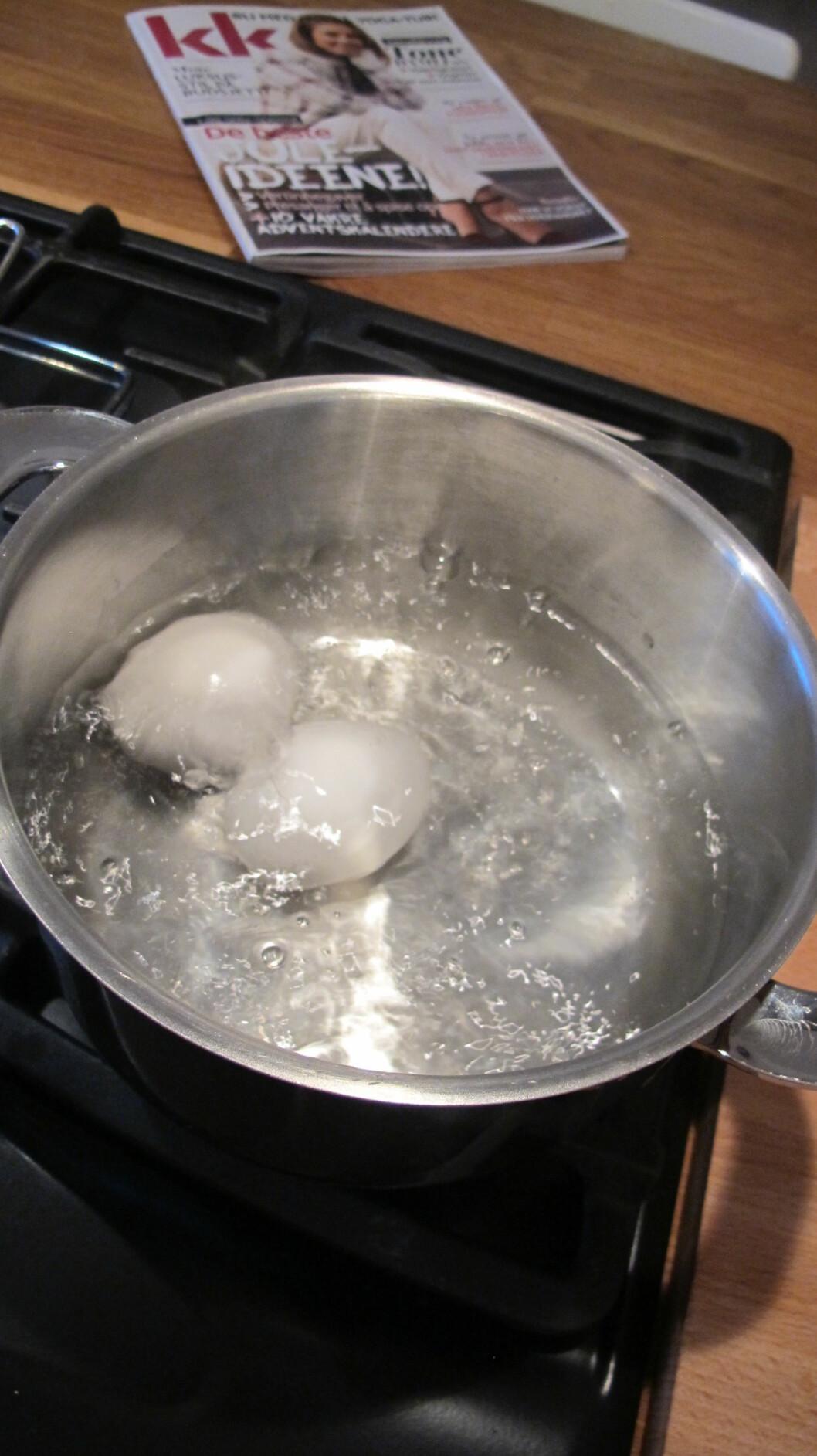 3. La vannet få et skikkelig oppkok. Foto: Stine Okkelmo