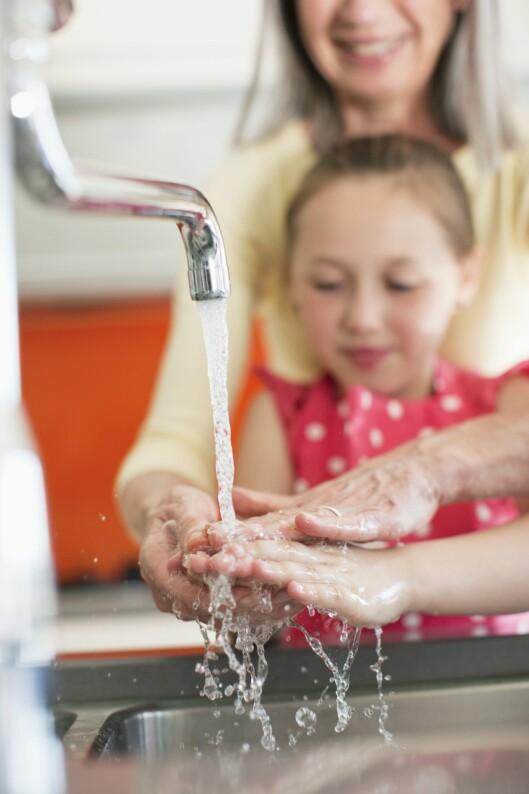VASK HENDER: I bunn og grunn er det god håndhygiene som er viktigst. Foto: REX/OJO Images/All Over Press