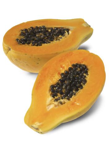SKRUBB: Papaya fjerner døde hudceller. Foto: REX/Stock Connection/All Over Pr