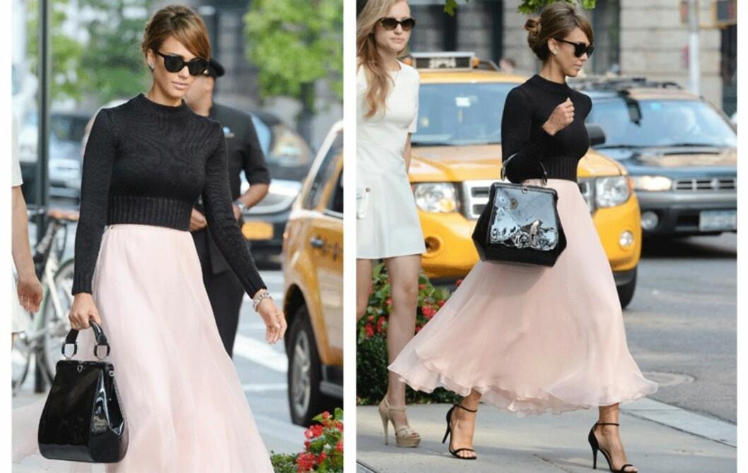 Få Jessica Albas rosa og svarte moteuke-stil!